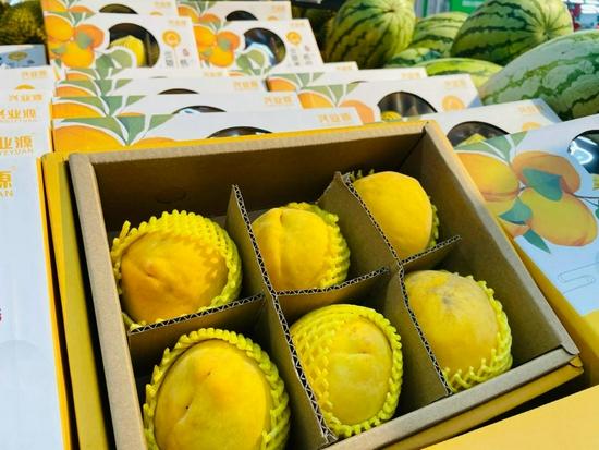 炎陵黄桃上市成商超水果明星,同时直达全国百余城市