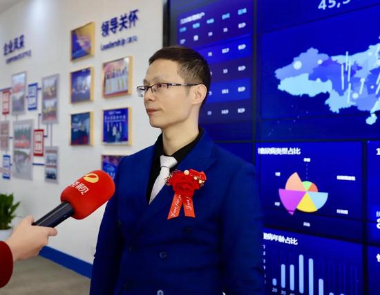 刘志总经理接受采访