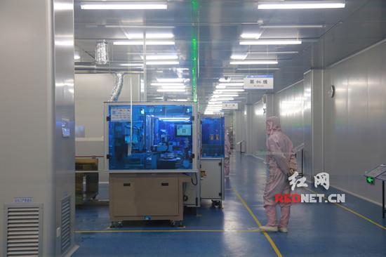 图为浏阳经开区蓝思科技今年1月份完成了自动化升级的五厂车间。陈俊杰摄  图为浏阳经开区蓝思科技今年1月份完成了自动化升级的五厂车间。陈俊杰摄