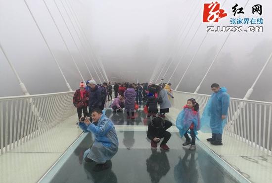 湖南省张家界大峡谷景区玻璃桥恢复接待