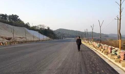完成路面油砂、绿化的水府大道。(资料图)