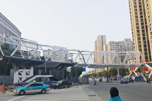 岳阳十五中天桥月底完工 今年有望新建3座人行天桥