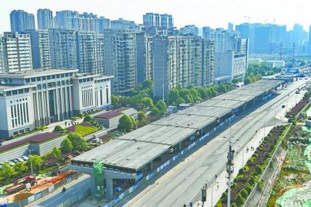湘府路河西段快速化改造明年底完工