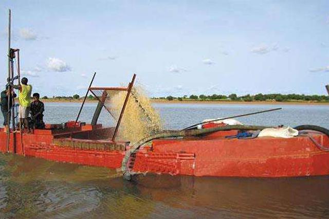 今年湘潭市已查获9艘非法吸砂船 整治非法采砂不手软