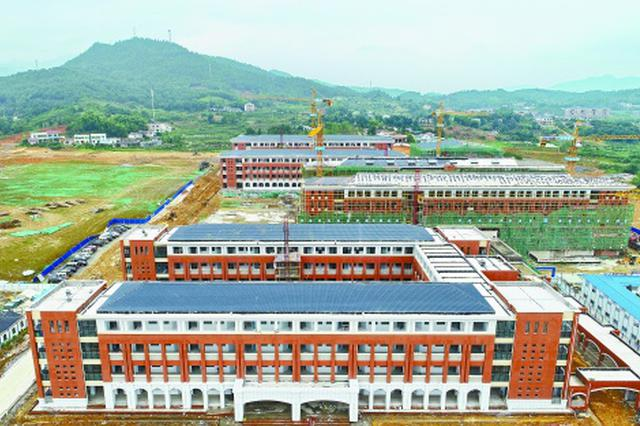 浏阳在建最大学校主体完工 用地面积12万多平方米
