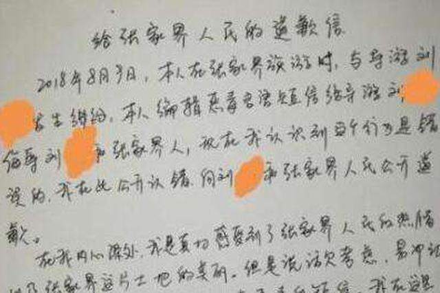 """张家界依法处理""""8.9涉旅事件"""" 16人寻衅滋事被刑拘"""