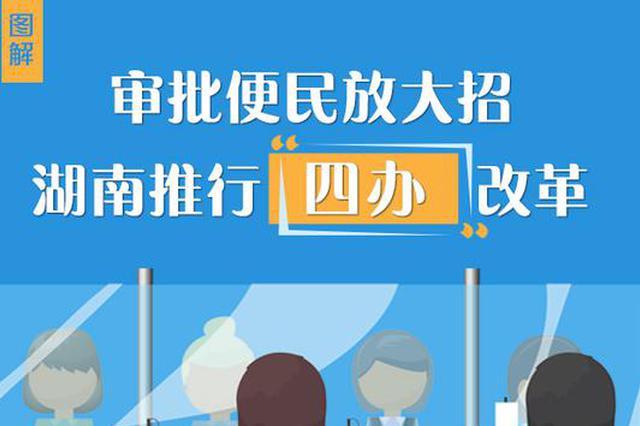 """审批便民放大招 湖南推行""""四办""""改革"""