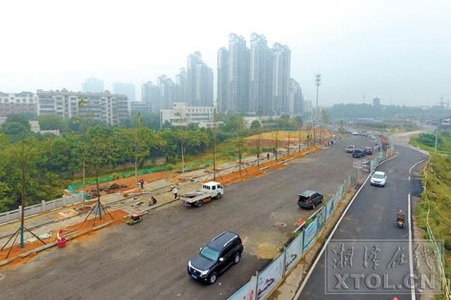 湘潭新马路预计本月底全线拉通 道路全长1415.73米