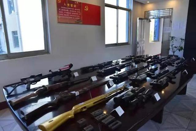 湖南津市破獲特大網絡販槍案:抓嫌犯17人繳槍22支