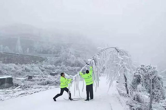 24小时值班备勤 湖南公路部门全力应对雨雪冰冻天气保畅通