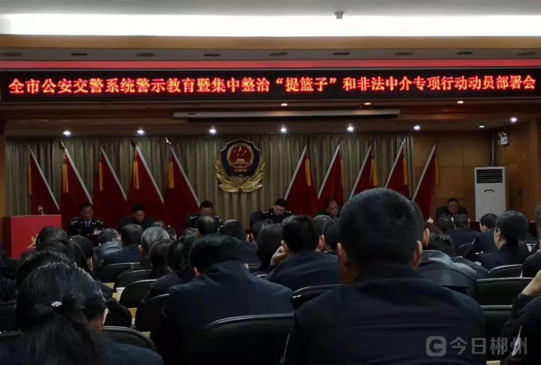 """郴州公安交警开始整治""""提篮子""""和非法中介"""
