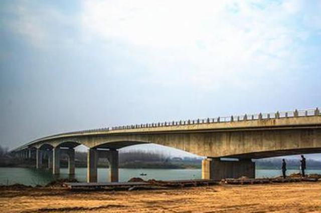 常德安乡县长岭大桥月底即将建成通车