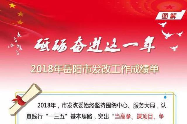砥砺奋进这一年!2018年岳阳市发改工作成绩单公布