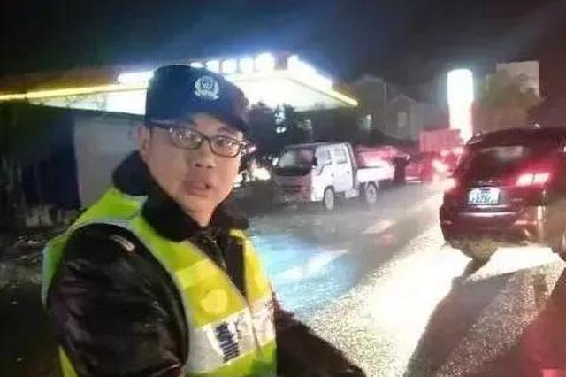永顺交警队长春运期连续工作21小时 累倒在雪夜马路上