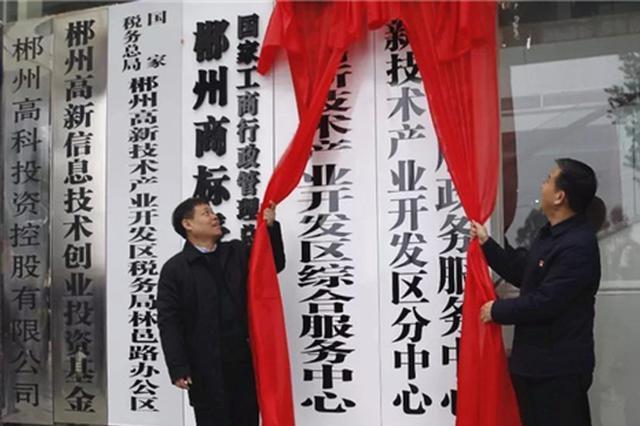 郴州市高新区政务服务中心正式启动
