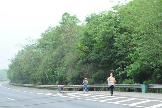 长沙县供电公司三分钟拆除5处跨越高速架空线路