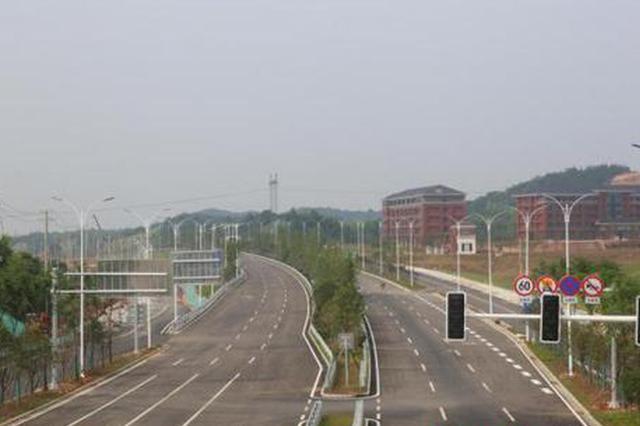 宁乡华强大道正在进行项目扫尾 预计6月底通车