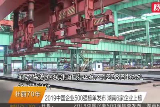 2019中国企业500强榜单发布 湖南6家企业上榜