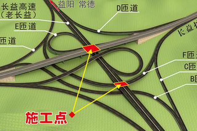长益扩容苏家坝互通跨线桥施工 长益高速由东往西将封闭