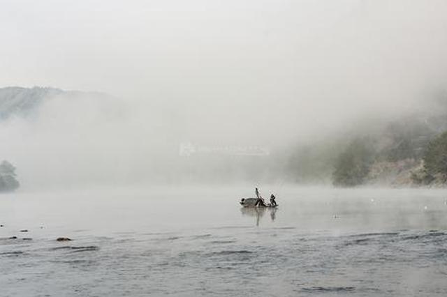组图|怀化锦江晨雾像极了水墨画