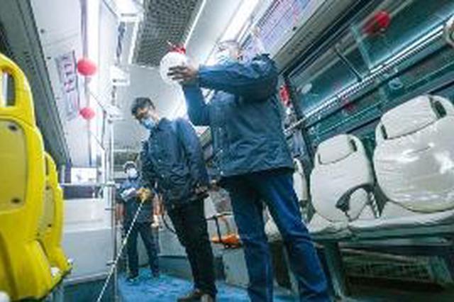 长沙公交消毒频率升级成趟趟都消毒
