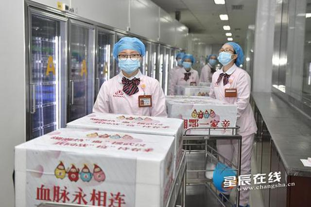 湘鄂两地心意连 湖南省血液中心调集20余万毫升血液驰援武汉