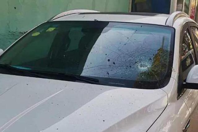 前员工为报复将领导轿车玻璃砸碎
