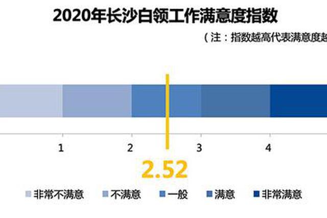 2020年长沙白领工作满意度为2.52 存款超5万占比25.5%
