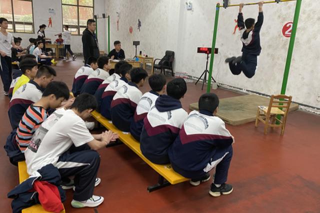 长沙市体育中考开考,所有项目由电子设备记录成绩