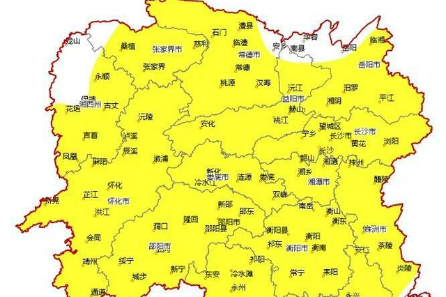 今日起至5日湖南大部晴热在线,明后天最高气温将达38 ℃