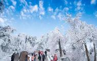 雪又来了 南岳雾凇美景又现