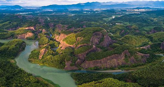 郴江、秧溪河在曹王寨附近汇合