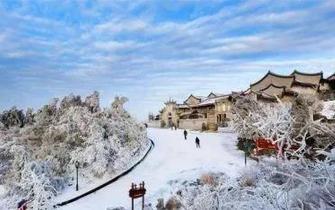南岳一夜入冬 新春雾凇美从天降