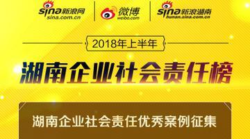 """2018""""湖南企业社会责任榜""""评选活动正式启动"""