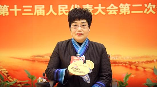 湖南省人大代表、湖南乐创公益慈善发展中心主任李丽