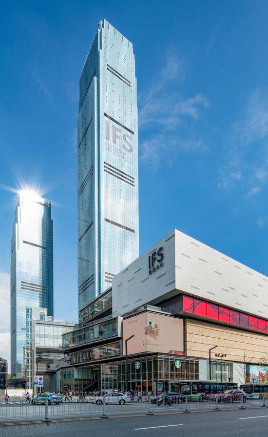 长沙IFS T1写字楼。
