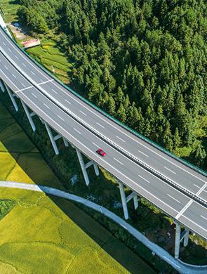 桂东:公路风光 美如画卷