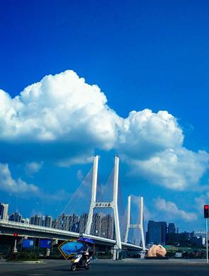 湘潭的蓝天白云