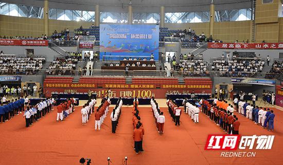 9月9日,湖南省第十三届运动会在衡山县体育馆精彩开赛。