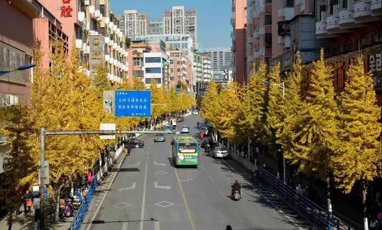文化路街景。