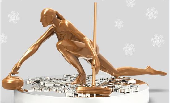 2022年北京冬奥会十五项系列雕塑 《冬奥之歌》 作者:黄剑