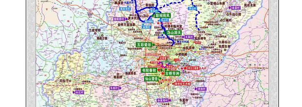 《醴陵市全域旅游资源分布图》出炉 涵盖103个景点