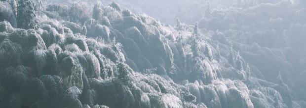 郴州仰天湖雪景:蓝天下大地白茫茫 格外美丽