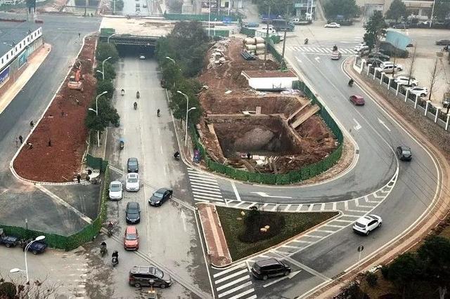 株洲石宋桥路段1月底恢复通行 航拍施工现场