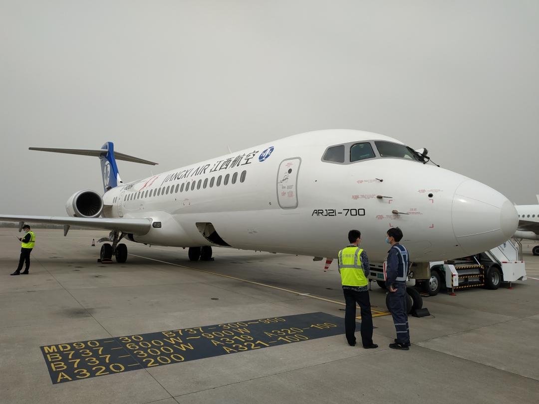 你好,ARJ21!常州机场迎来首架国产客机