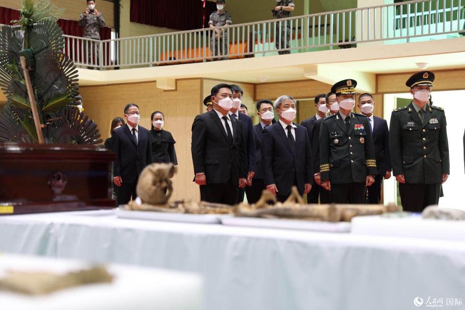 第七批在韩中国志愿军烈士遗骸装殓仪式举行