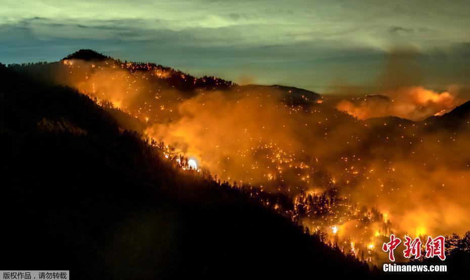 森林变火海 美国10个州87场大火西海岸浓烟笼罩