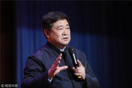 2019年1月7日,故宫博物院院长单霁翔出席故宫过大年开幕式。来源:视觉中国