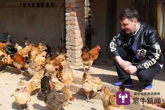 马克斯在农场里养鸡
