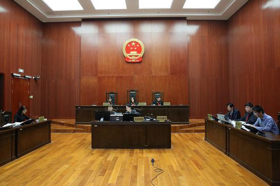 庭审现场。知识产权法院供图